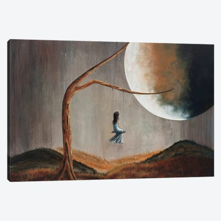 She Feels Memories Canvas Print #MLP156} by Moonlight Art Parlour Canvas Art