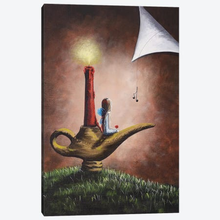 The Fairy And The Candlestick Canvas Print #MLP182} by Moonlight Art Parlour Canvas Artwork