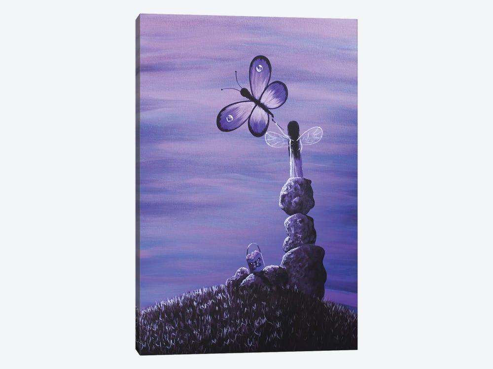 Amethyst Fairy by Moonlight Art Parlour 1-piece Canvas Wall Art