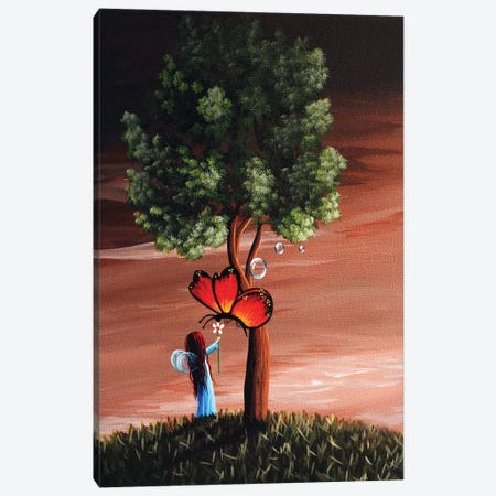 Butterflies Are A Fairys Best Friend Canvas Print #MLP36} by Moonlight Art Parlour Canvas Art