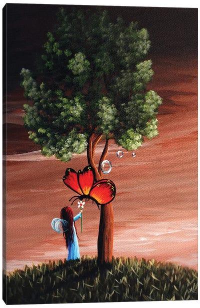 Butterflies Are A Fairys Best Friend Canvas Art Print