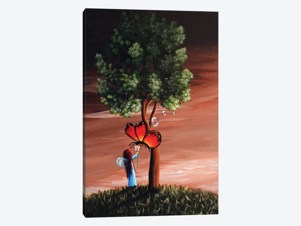 Butterflies Are A Fairys Best Friend by Moonlight Art Parlour 1-piece Canvas Artwork