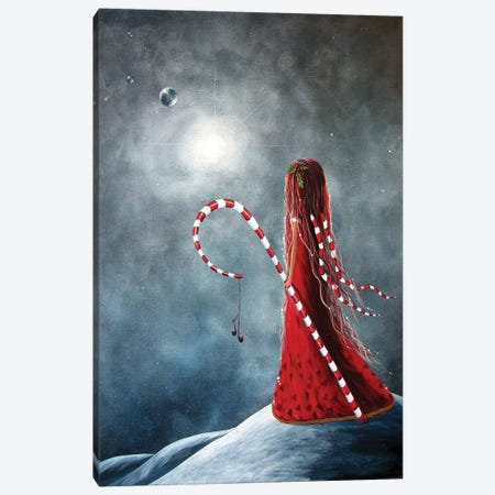 Candy Cane Fairy Canvas Print #MLP40} by Moonlight Art Parlour Canvas Wall Art