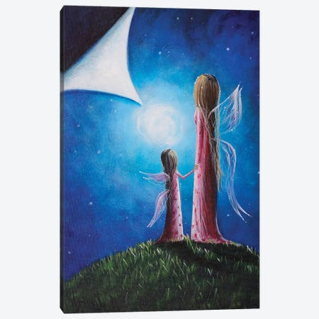 A Fairy's Child Canvas Print #MLP4} by Moonlight Art Parlour Canvas Wall Art