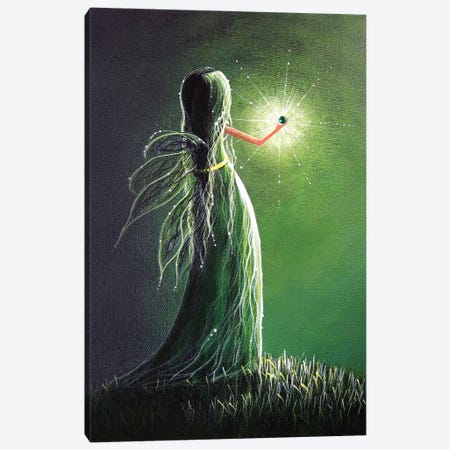 Emerald Fairy Canvas Print #MLP52} by Moonlight Art Parlour Art Print