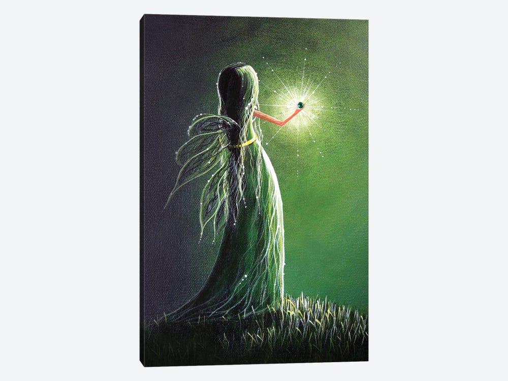 Emerald Fairy by Moonlight Art Parlour 1-piece Canvas Wall Art
