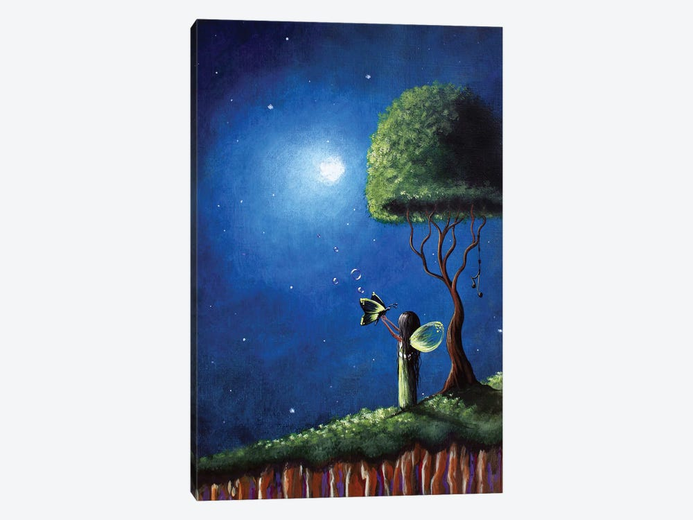 Fairy Wishes by Moonlight Art Parlour 1-piece Canvas Wall Art