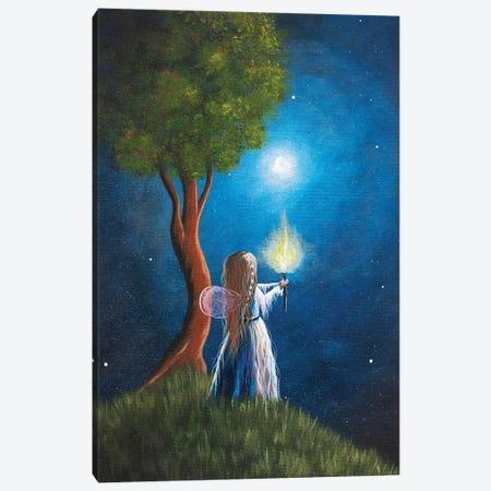 Guardian Of Light Canvas Print #MLP67} by Moonlight Art Parlour Art Print