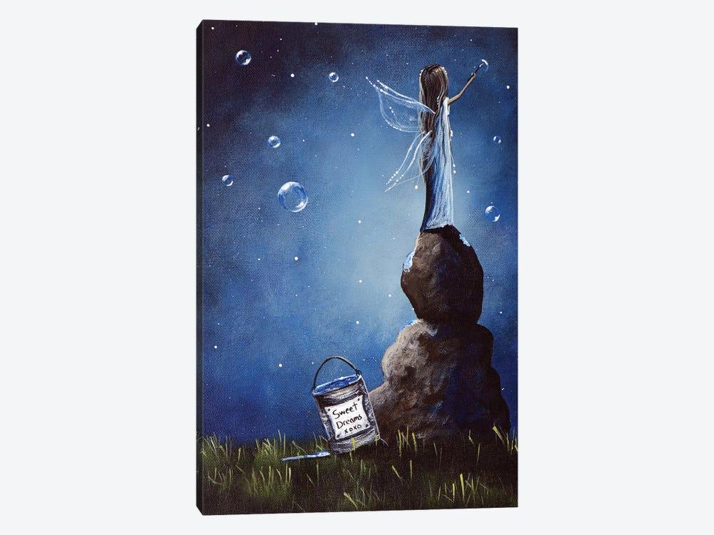 A Fairy's Nighttime Gift by Moonlight Art Parlour 1-piece Canvas Artwork