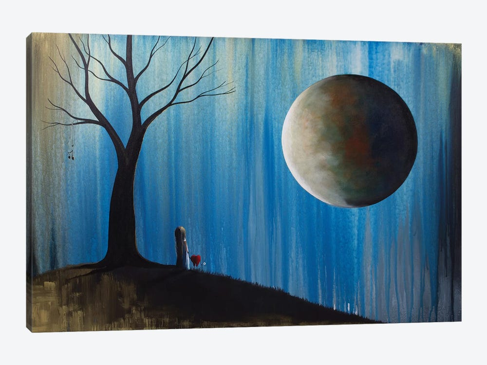 A Glimpse Of Our Forever by Moonlight Art Parlour 1-piece Canvas Wall Art