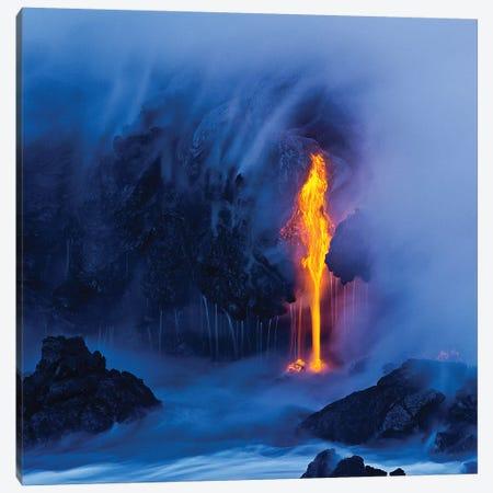 Electric Blue Canvas Print #MLS3} by Miles Morgan Canvas Artwork
