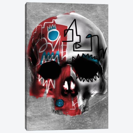 Copper Skull Canvas Print #MLT11} by Daniel Malta Canvas Art Print