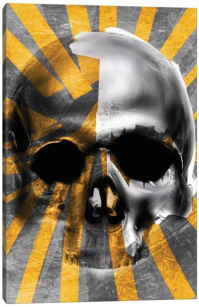 Golden Skull Canvas Art Print