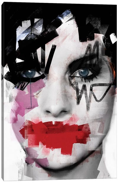 Purple Tears Canvas Art Print
