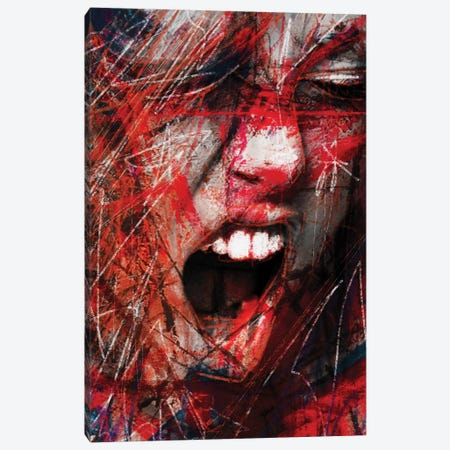 Scream Canvas Print #MLT34} by Daniel Malta Canvas Wall Art