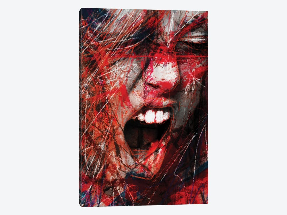 Scream by Daniel Malta 1-piece Canvas Print