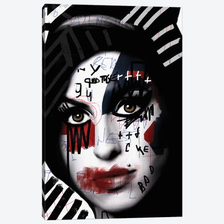 Scribbled Amy Canvas Print #MLT35} by Daniel Malta Canvas Art