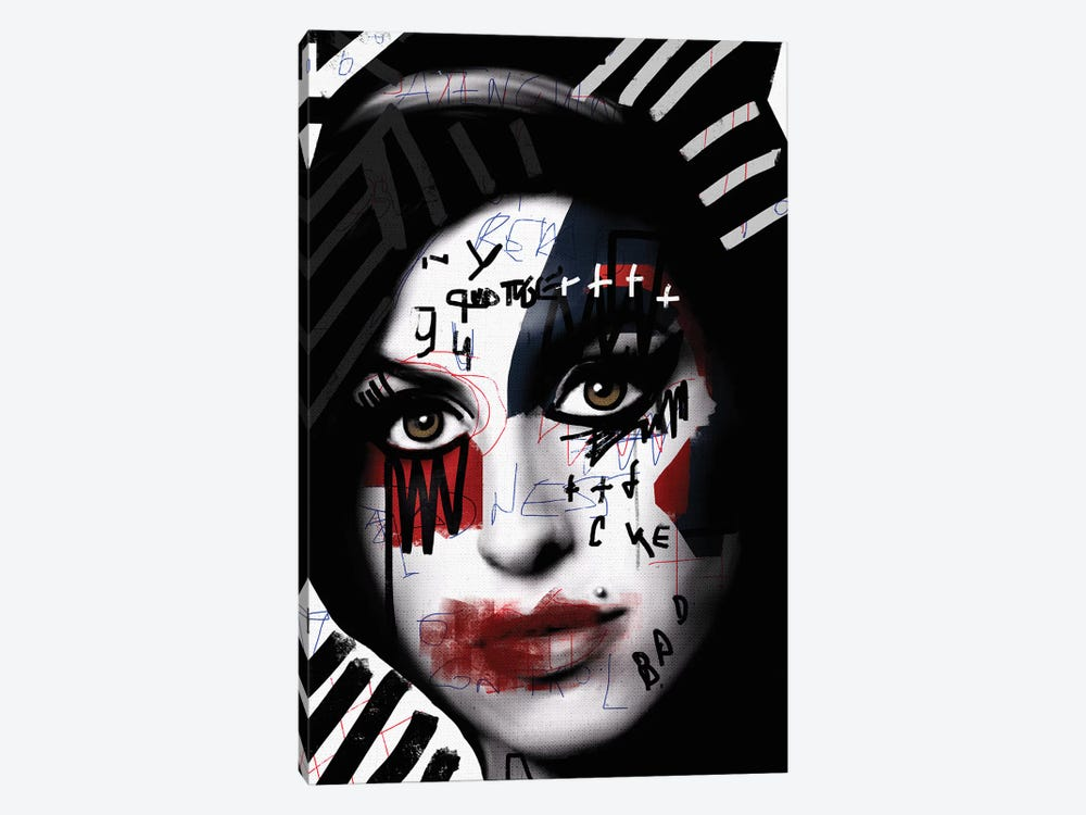 Scribbled Amy by Daniel Malta 1-piece Canvas Wall Art