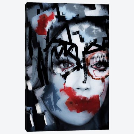 Silent Queen V Canvas Print #MLT37} by Daniel Malta Canvas Wall Art