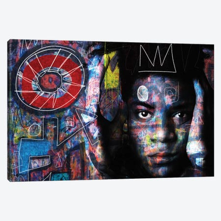 Basquiat´s Mind Canvas Print #MLT3} by Daniel Malta Canvas Art Print