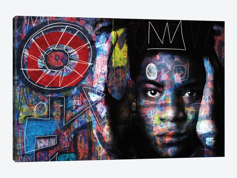 Basquiat´s Mind by Daniel Malta 1-piece Canvas Print