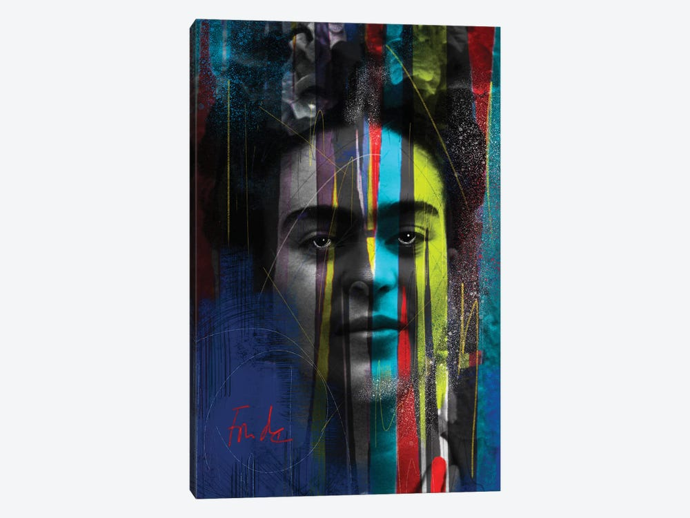 Warrior Frida by Daniel Malta 1-piece Canvas Art Print