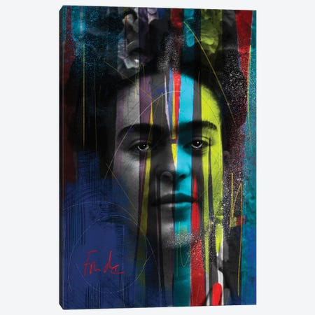 Warrior Frida Canvas Print #MLT43} by Daniel Malta Canvas Art