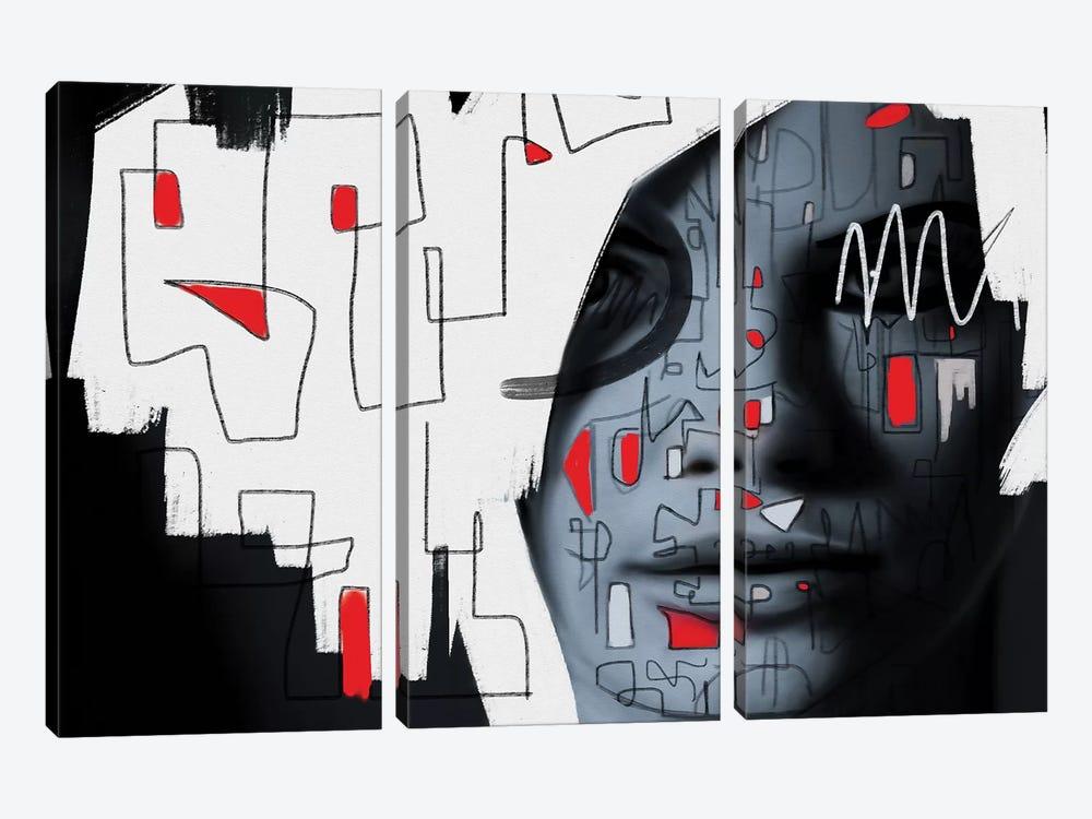 Labyrinth by Daniel Malta 3-piece Canvas Art