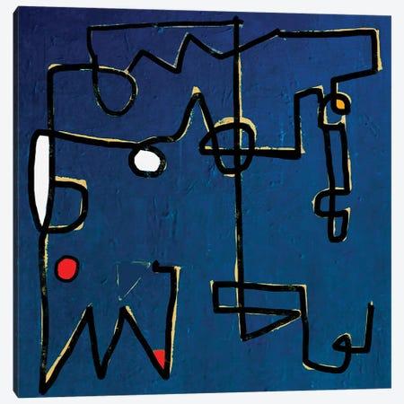Minimal Blue 3-Piece Canvas #MLT50} by Daniel Malta Art Print