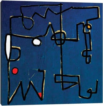 Minimal Blue Canvas Art Print