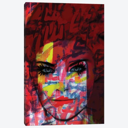 Cardboard Fashion Lady Canvas Print #MLT7} by Daniel Malta Canvas Wall Art