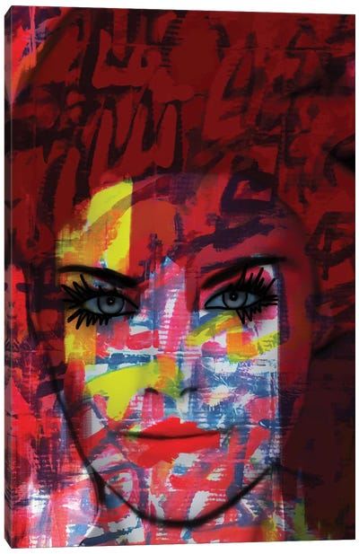 Cardboard Fashion Lady Canvas Art Print