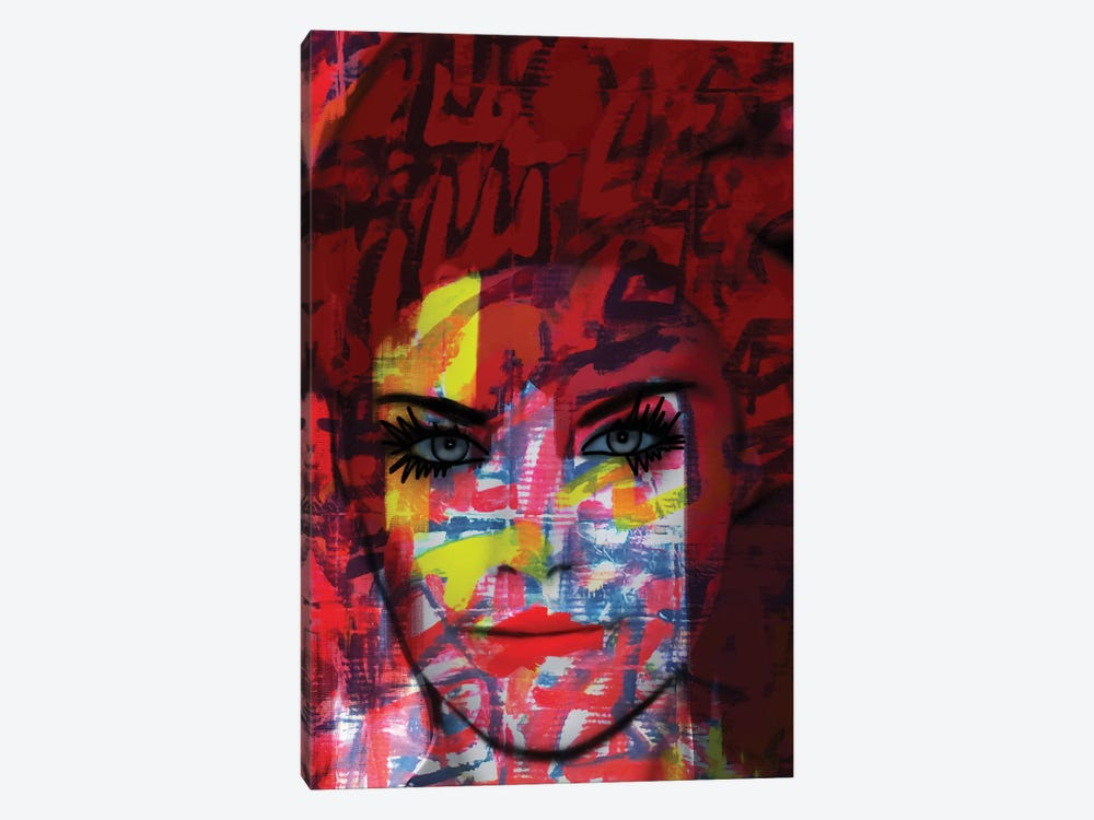Cardboard Fashion Lady by Daniel Malta 1-piece Canvas Art Print