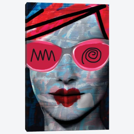 Cardboard Pink Lady Canvas Print #MLT8} by Daniel Malta Canvas Print
