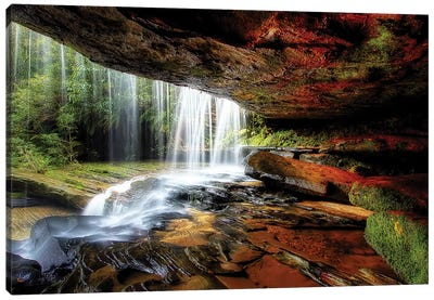 Under The Ledge Canvas Art Print