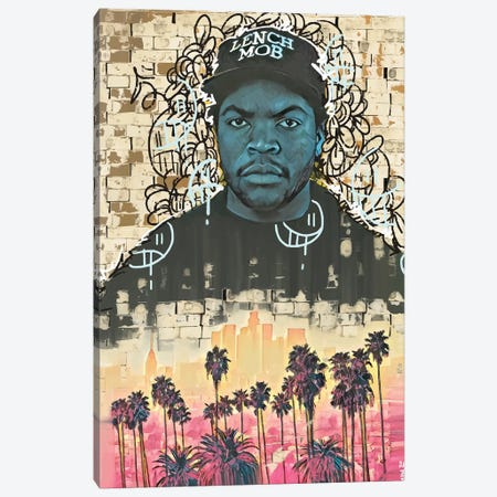 Ice Cube Canvas Print #MLW12} by Arm Of Casso Canvas Artwork