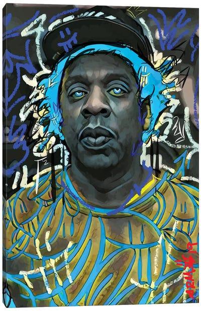 Jayz Blue Canvas Art Print