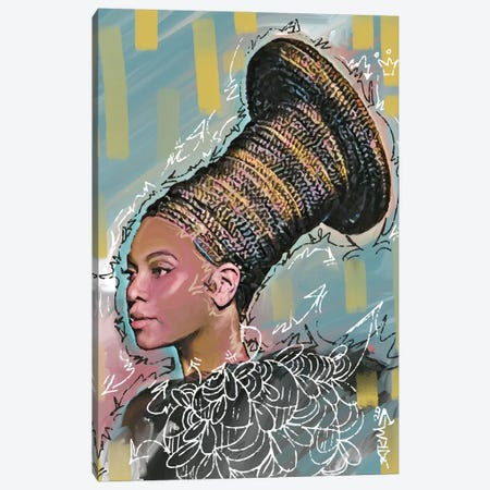 Beyonce Canvas Print #MLW2} by Arm Of Casso Canvas Artwork