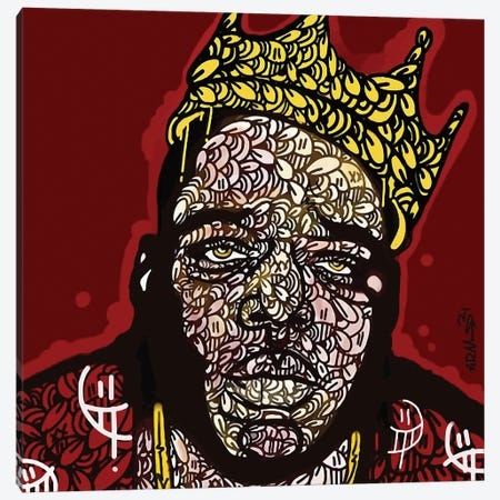 Notorious Canvas Print #MLW32} by Arm Of Casso Canvas Artwork