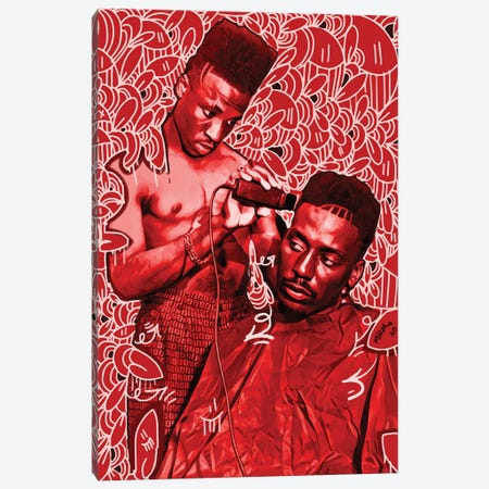 Big Daddy Kane Getting A Shape Up Canvas Print #MLW3} by Arm Of Casso Canvas Art