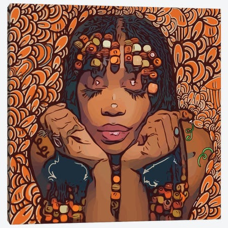 SZA - Hit Different Canvas Print #MLW42} by Arm Of Casso Art Print