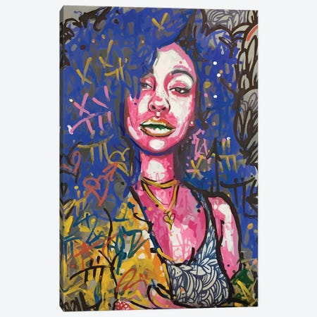 SZA Canvas Print #MLW43} by Arm Of Casso Art Print