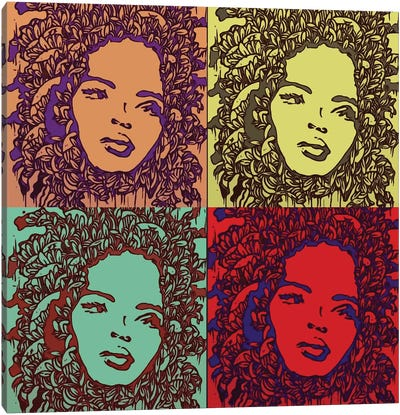 The Many Faces Of Lauryn Hill Canvas Art Print