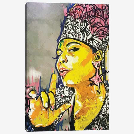 The Queen Canvas Print #MLW47} by Arm Of Casso Canvas Art