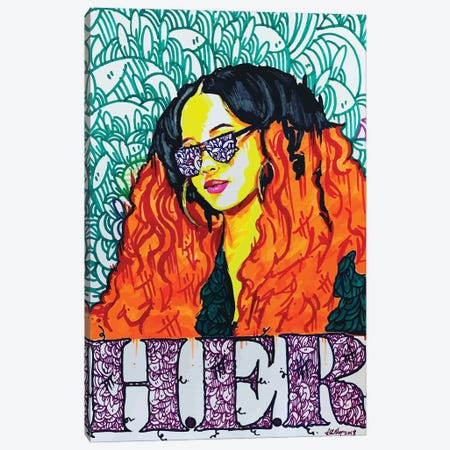 Her Canvas Print #MLW8} by Arm Of Casso Canvas Artwork