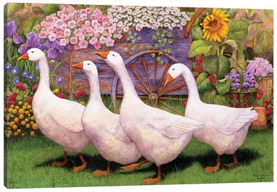 Garden March III Canvas Art Print
