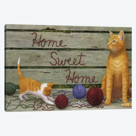 Home Sweet Home Canvas Print #MMA14} by Marcia Matcham Canvas Wall Art