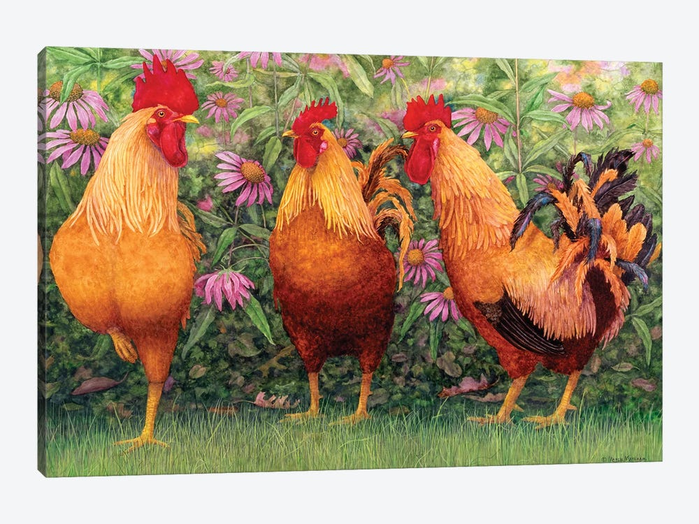 Roosters en Place I by Marcia Matcham 1-piece Canvas Art