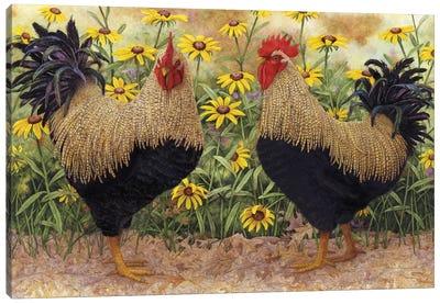 Roosters en Place III Canvas Art Print
