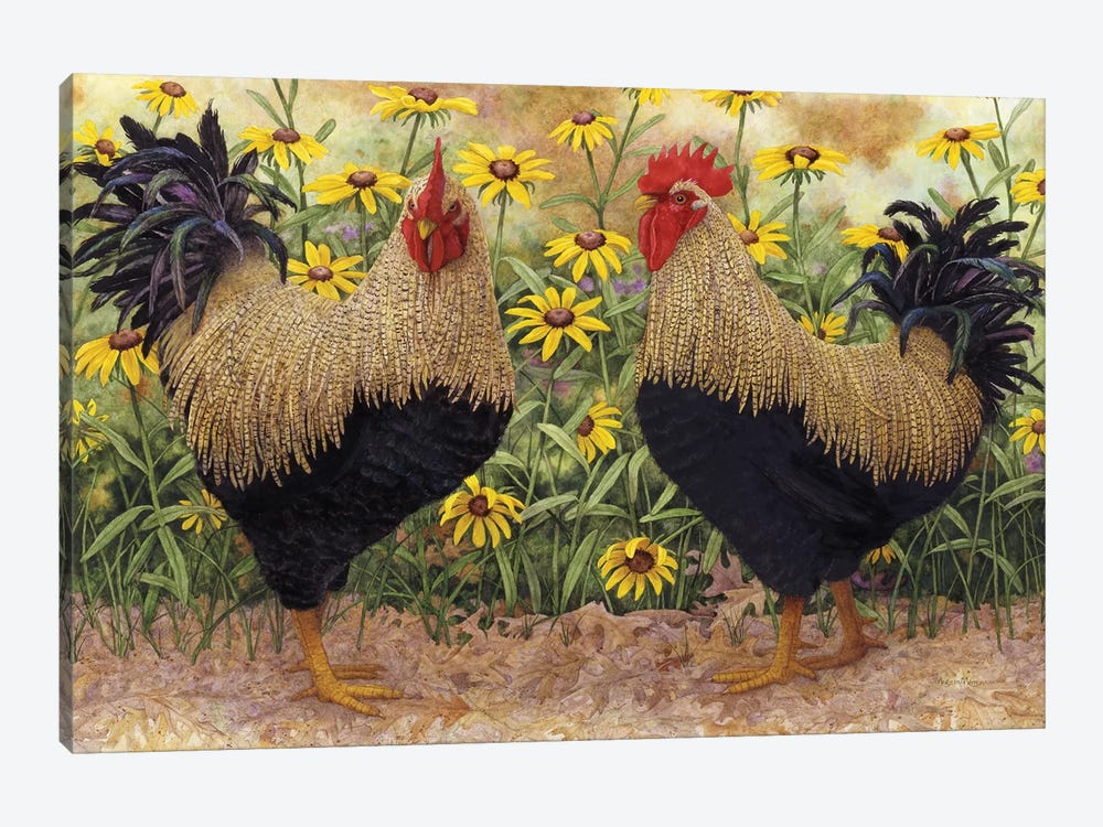 Roosters en Place III by Marcia Matcham 1-piece Canvas Wall Art